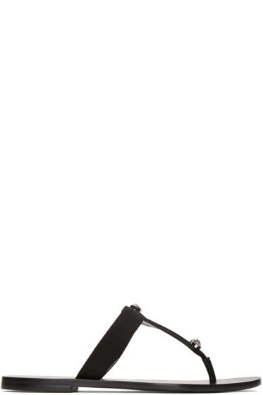 Versace - Black Medusa Medallion Sandals