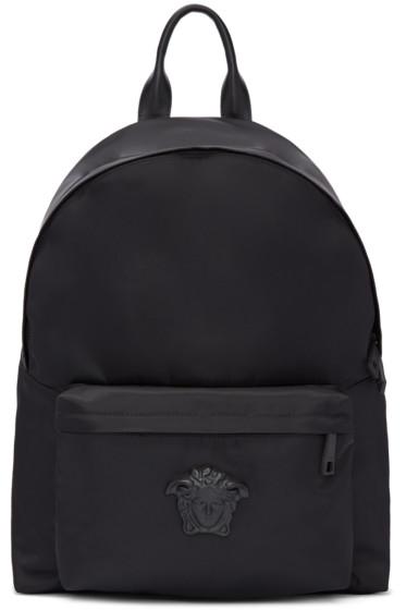 Versace - Black Nylon Medusa Backpack