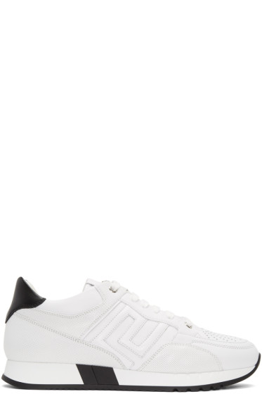 Versace - White Leather Sneakers
