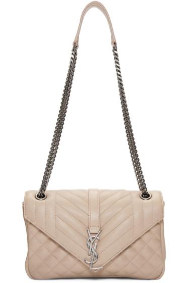 Saint Laurent - Pink Small Monogram Envelope Chain Bag