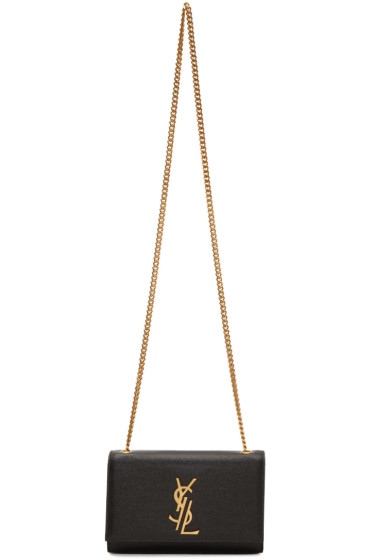 Saint Laurent - Black Small Deconstructed Monogram Kate Chain Wallet Bag