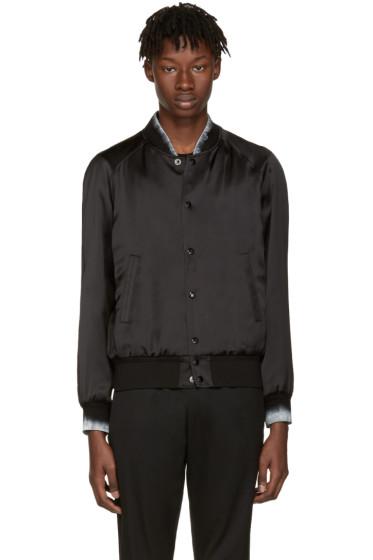 Saint Laurent - Black Moonlight Teddy Bomber Jacket