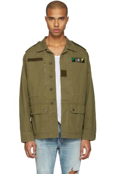 Saint Laurent - Green 'Sweet Dreams' Military Jacket