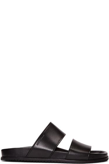 Saint Laurent - Black Leather Nu Pied Sandals