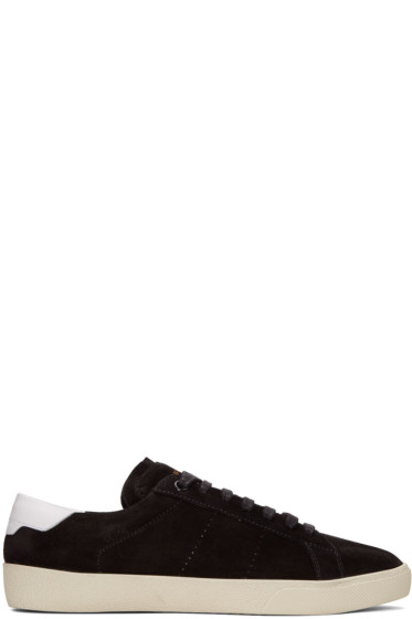 Saint Laurent - Black Suede SL/06 Court Classic Sneakers