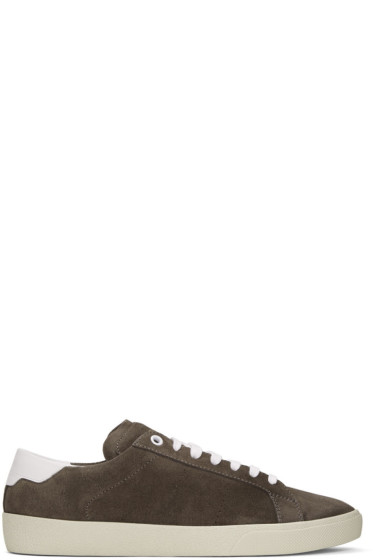 Saint Laurent - Brown Suede SL/06 Court Classic Sneakers