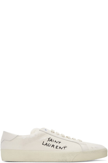 Saint Laurent - Off-White SL/06 Court Classic Sneakers