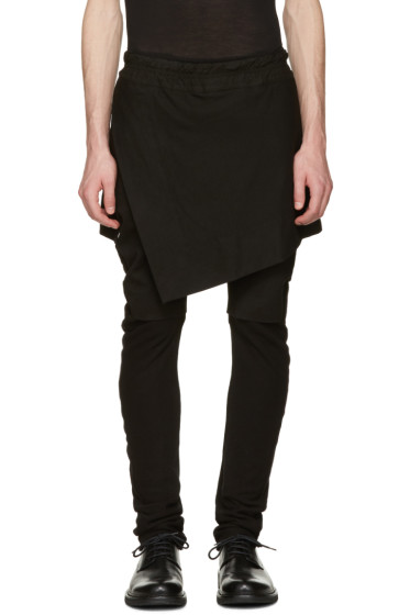 Julius - Black Indirect Combination Trousers