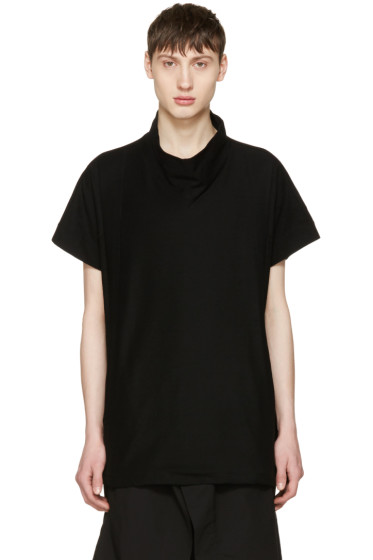 Julius - Black High Neck T-Shirt