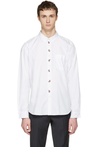 PS by Paul Smith - White Embroidered Tailored Shirt