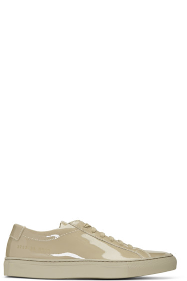 Woman by Common Projects - Taupe Achilles Low Gloss Sneakers