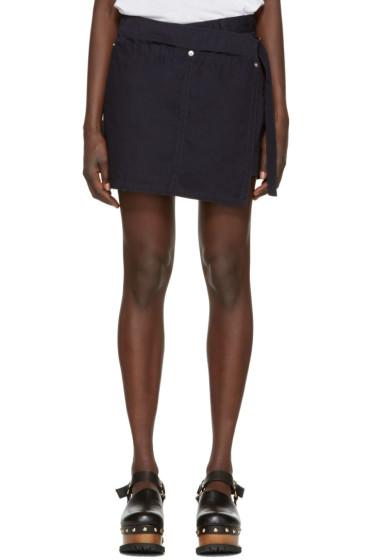 Sacai - Navy Overdyed Shorts