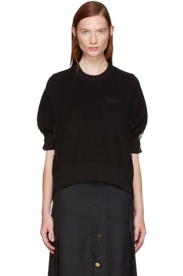 Sacai - Black Tribal Lace Pullover