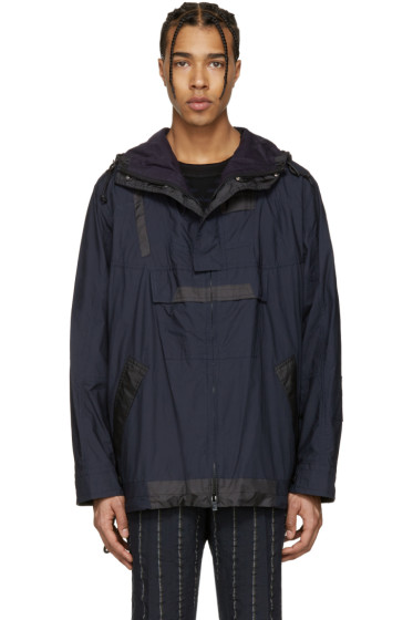 Sacai - Navy Typewriter Pattern Jacket