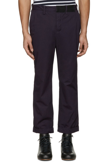 Sacai - Navy Overdyed Trousers