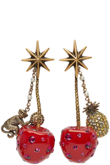 Gucci - Red Cherry Earrings