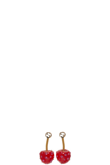 Gucci - Red Small Cherry Earrings