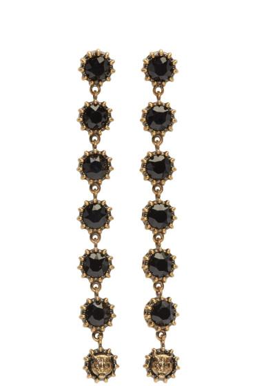 Gucci - Black Crystal Earrings