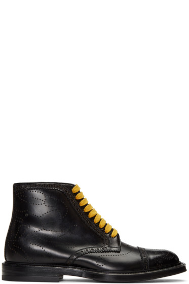 Gucci - Black Formal Lace-Up Boots