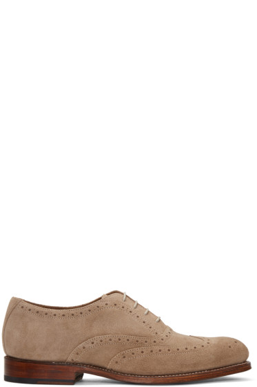 Grenson - Taupe Suede Luther Brogues