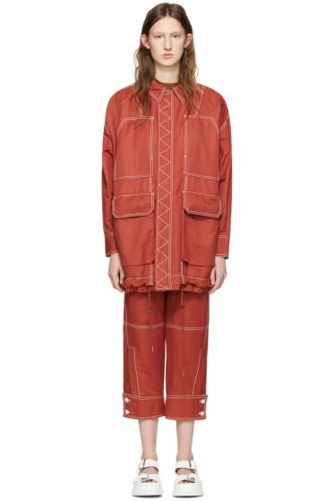 Stella McCartney - Red Four Pockets Coat