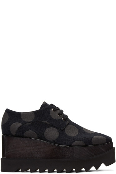 Stella McCartney - Black Elyse Polka Dot Derbys