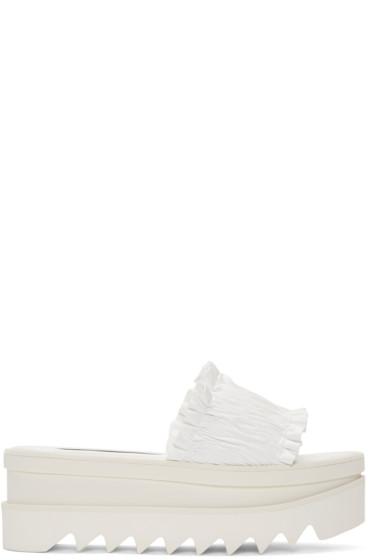 Stella McCartney - White Ruched Sandals