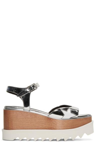 Stella McCartney - Silver Platform Star Elyse Sandals