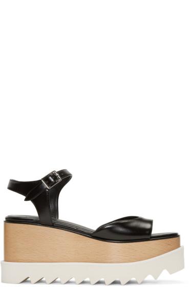 Stella McCartney - Black Platform Elyse Sandals