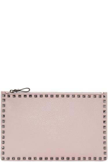 Valentino - Pink Rockstud Zip Pouch