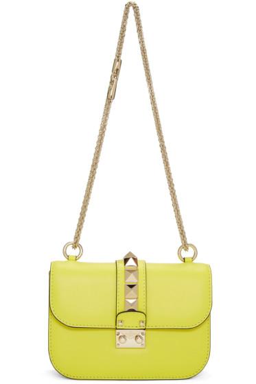 Valentino - Sac jaune Small Lock