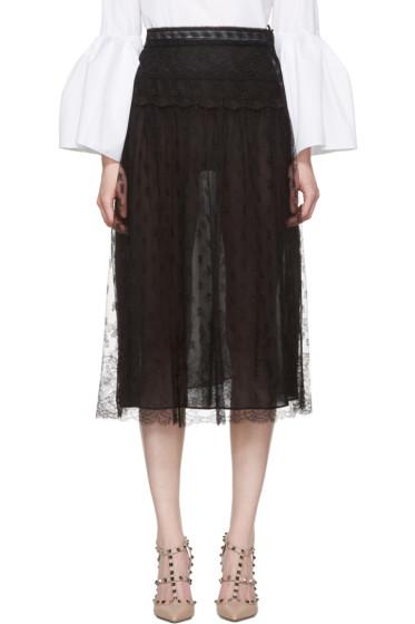 Valentino - Black Lace Skirt