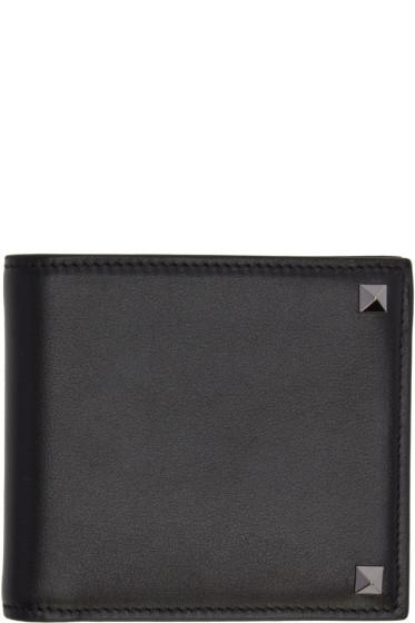 Valentino - Black Big Rockstud Wallet