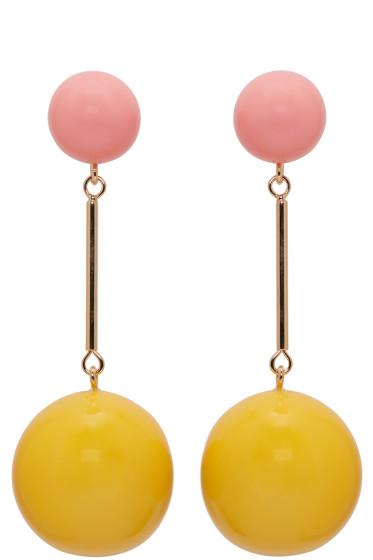 J.W.Anderson - Yellow & Pink Sphere Earrings