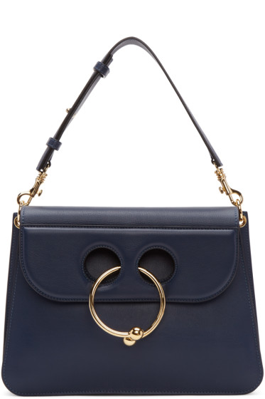 J.W.Anderson - Navy Medium Pierce Bag