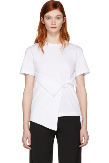 J.W.Anderson - White Draped Front T-Shirt