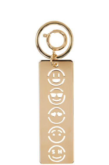 Sophie Hulme - Gold Face Stencil Keychain