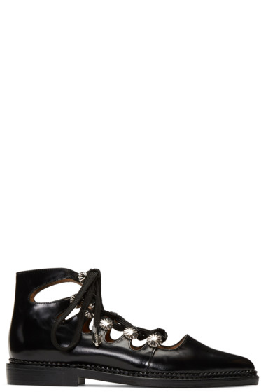 Toga Pulla - Black Lace-Up Boots