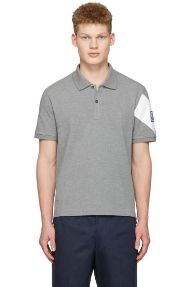 Moncler Gamme Bleu - Grey Arm Patch Polo