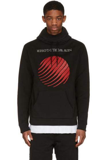 Hood by Air - Black 'New World' Stuck Hoodie
