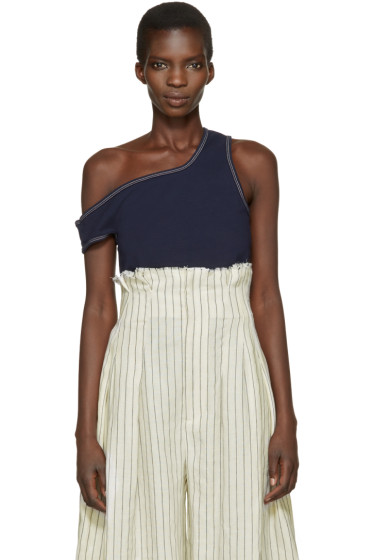Jacquemus - Navy 'Le Marcel Qui Tombe' Tank Top