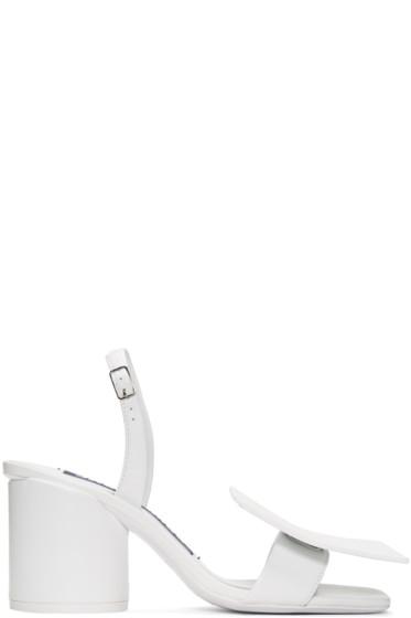 Jacquemus - White 'Les Rond Carré' Sandals