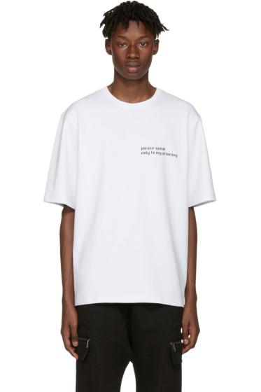 Pyer Moss - SSENSE Exclusive White Attorney T-Shirt