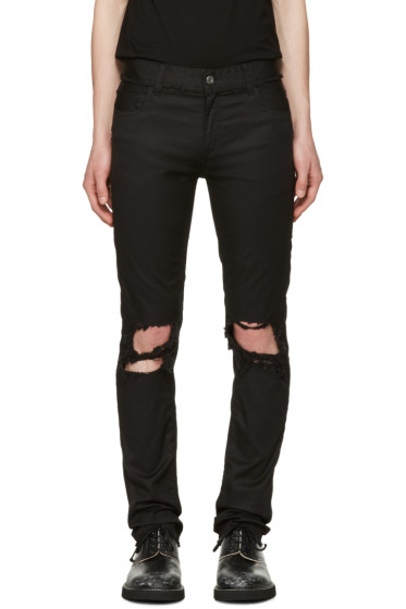 Christian Dada - Black Signature Super Skinny Knee Trousers