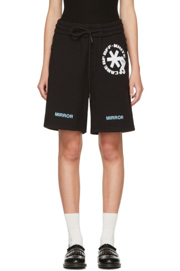 Off-White -  Black Care 'Off' Shorts