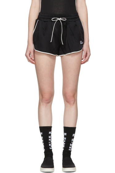 Off-White - Black Pyjama Shorts
