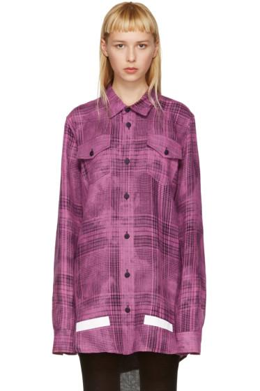Off-White - Pink Linen Check Shirt