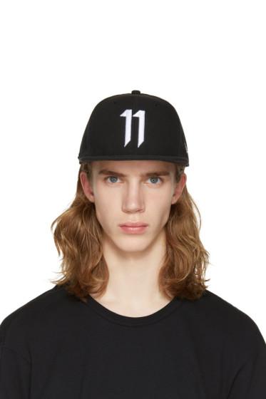 11 by Boris Bidjan Saberi - Black Logo Snapback Cap
