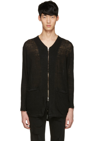 Diet Butcher Slim Skin - Black Long Zip Cardigan
