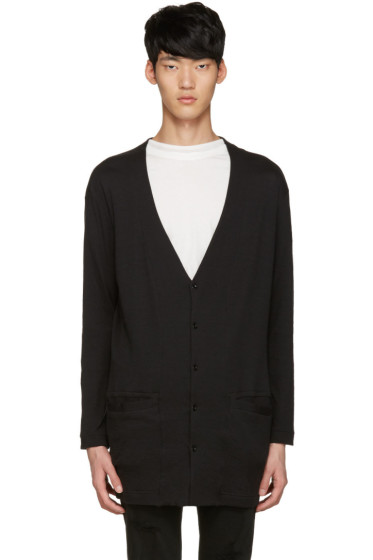Diet Butcher Slim Skin - Black Long Loose Cardigan